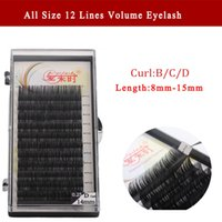Wholesale Volume Hair Tool - Newcome eyelash extension Korea all size curl b c d 8-15cm handmade volume individual makeup tools 3D lashes