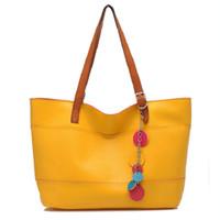 Wholesale Hugo Men - Christmas brand bag bolsas victor hugo woman fashion tote bag girl candy pu leather bags with nice decoration yellow candy bag