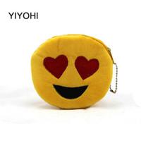 Wholesale Beige Smile Bag - Wholesale- Cute Style Novelty Emoji Smile Zipper Plush Coin Purse Kawaii Children Bag Women Wallets Mini Change Pouch Bolsa