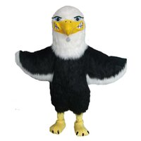 Wholesale Eagles Mascot Costume - 100% real picture mascot bald eagle mascot costume plush eagle falcon bird hawk custom theme anime costumes carnival fancy dress