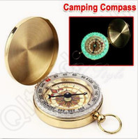 Wholesale Camping Watches Compass - G50 Portable Travel Hiking Outdoor Classic Brass Compass Camping Pocket Watch Style Compass Keychain Gift CCA5558 350pcs
