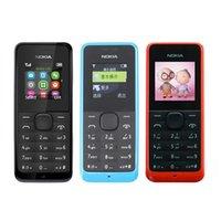 Wholesale Old Cell - Refurbished Original Nokia 105 1050 Cell Phone Multi Language Old Keyboard Mobile Phone Free Shipping Sample