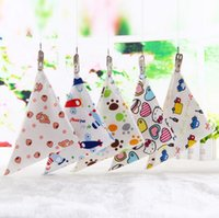 Wholesale Wholesale Cotton Scarves Stars - Cheap Wholesale Mixed Colors Cotton New Baby Babador Bandana Bibs For Babies Scarf Boys Girls Baby Bib Burp Cloths