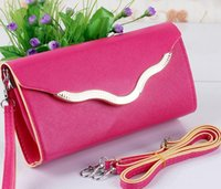 Wholesale orange satchels - woman Clutch Bags Amphibious hardfaced wallet Long oblique satchel bag s1-s45