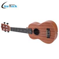 """Wholesale Acoustic Solid - Wholesale- Hot Sale!!! ammoon High Quality 21"""" Acoustic Ukulele Sapele Ukelele 15 Fret 4 Strings Stringed Musical Instrument"""