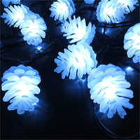 Wholesale Pine Panel - Wholesale- Waterproof LED String Pine Cone Christmas Solar Lights Garland Luminaria Outdoor Led Solar Panel Garden Lights