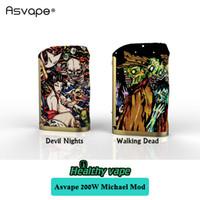 Wholesale Michael Set - Original Asvape Michael 200W TC Box Mod Devils Night Walking Dead VO200 chip set Vape Mod