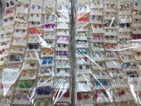 boucles d'oreilles dames cristal achat en gros de-Gros Lots Femmes Lady Boucle D'oreille Élégant Cristal Strass Oreille Stud Boucles D'oreilles Aléatoires Mixtes Paires De La Mode