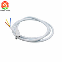 Wholesale Connectors For Pigtail - T5 T8 LED tube light Connector Cable 3ft 0.9M longer pigtail For Integrated Led Tube Power Cable
