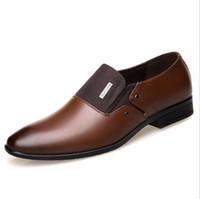 sapatos de escritório preto venda por atacado-Homem ponto toe vestido sapato designer italiano mens formal sapatos de couro genuíno sapatos de casamento de luxo preto homens flats escritório para o sexo masculino