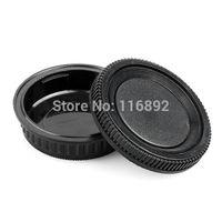 Wholesale Pentax Body - Wholesale-1 Pairs camera Body cap + Rear Lens Cap for K10D K20D K200D K100D K-7 for Pentax PK Ricoh Camera Mount free shipping
