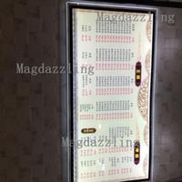 lumière du tableau de menu achat en gros de-Vente en gros - 3PCS Ultra Slim Acrylic Frame LED Panneau de menu lumineux, 24