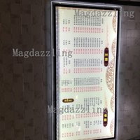 "Wholesale Restaurant Menu Boards - Wholesale- 3PCS Ultra Slim Acrylic Frame LED Illuminated Menu Panel,24""x40"" Advertising Display LED Crystal Light Box,Restaurant Menu Board"