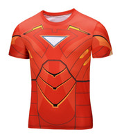 Wholesale Energy Costumes - Wholesale- High Quality NEW 2016 Marvel Tony Stark Iron Man 2 Energy Ring Costume Hero jersey T shirt Men 21 style