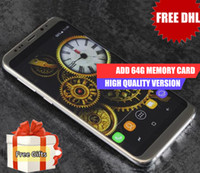 Wholesale Mp3 Player 16gb Memory - Dhl Free Goophone S8 Plus Real Fingerprint 4g Lte Octa Core 5.7Inch Full Screen 1920x1080 1GB RAM 16GB ROM Add 64G Memory Card Show 4+64GB