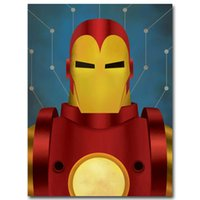 Batman Iron Man Lanterna Verde Superman Minimalista Tela Di Canvas Poster Pittura Supereroe Cartoon Decorazione della Camera Bambini Decorazione