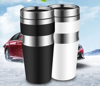 office warming gifts. wholesale stainless steel matte auto mug automotive gifts home office vacuum insulation cupclassic black and white cup warming r
