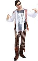 ingrosso abbigliamento anime maschile-cosplay costumi di halloween modelli maschili e femminili adulti costume scheletro fantasma abbigliamento morte vampiro horror diavolo pirata zombie abbigliamento