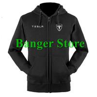 Wholesale Fleece Shop - Wholesale- Tesla sweatshirts coat custom Tesla 4S shop hoodie jacket for men and women