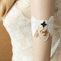 Wholesale Upper Arm Bracelets For Women - Vintage Christian White Lace Bracelet, Cover the Scar Leaves Wedding Accessory, Charm Upper Arm Bracelets for Women Bride