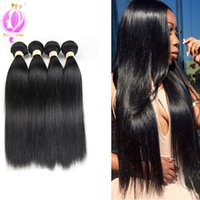 Brasilianisches Straight Hair 4 Bundles Mixed Length Unverarbeitete Virgin Indian Straight Menschenhaar Weave Bundles Natural Black Color
