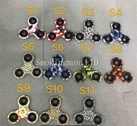 Em estoque Fidget Spinners Hand Spinner Leopard Camouflage Pattern Triangle Dedo Spinner Plastic Decompression Hand Fingers Gyro Toy