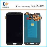 Wholesale Note N719 - LCD For Samsung Galaxy Note 2 N7100 N7102 N7108 N719 N7105 L900 I605 LCD Touch Screen Digitizer Display with Frame Assembly Grade Original