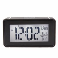 Wholesale Digital Snooze Alarm Clock Bedside - Temperature+Calendar Smart LED Electronic Clock Touch Sensing Light White Luminous Lazy Snooze Bedside Digital Alarm Clock