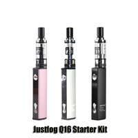 Wholesale White Wholesale Threads - 100% Original marilyn monroe Justfog Q16 Starter Kit Pink 900mAh Variable Voltage J-Easy 9 Battery 1.9ml 510 Thread Clearomizers