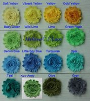 """Wholesale Shabby Flower Wholesale Usa - Free USA ePacket CPAP 30y 59 colors 2.5"""" chic shabby frayed chiffon rose flower trim for girl hair accessories"""