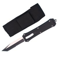 Wholesale tactical combat survival gear for sale - Group buy Top Quality Allvin Manufacture A162 Auto Tactical knife C Tanto Half Serration Blade Outdoor Camping Hiking Survival EDC Gear