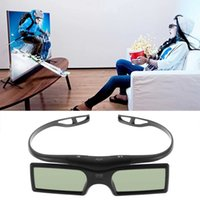 Atacado - 1pc Bluetooth 3D Shutter Active Glasses para Samsung / para Panasonic para Sony 3DTVs Universal TV 3D Glasses Newest