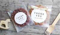 papel de regalo para galletas al por mayor-Puntos blancos Transparente Frosted OPP Envoltura de plástico Bolsa de regalo de boda Fiesta de cumpleaños Boda Cookie Candy Bolsa de embalaje