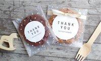 matt transparenter kunststoff großhandel-Weiße Punkte transparent gefrostet OPP Kunststoff Wrap Hochzeit Geschenk Tasche Geburtstagsfeier Hochzeit Cookie Candy Verpackungsbeutel