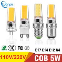 ingrosso luci g8-Lampadina LED per mais Dimmerabile Lampada corpo in silicone G4 G8 G9 E11 E12 E14 E17 BA15D 110 V 220 V COB 2508 Lampadina bianca