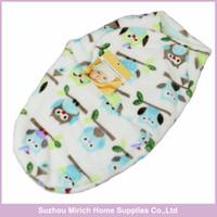Wholesale Baby Sleepbag - Mixed Designs ,Manufactory Supplier Wholesale Polyester Baby Swaddle Blankets ,Cute Animal Printing Knitted Fleece Baby Sleepbag
