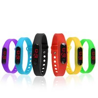 Led Digital Display Touch Screen Relógios Silicone Rubber Bracelets Wristwtch Girl Boy Sports Assista Relogio Hour