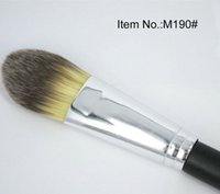 Wholesale Cheapest Concealer - Cheapest M190 Flat Brush #190 Professional Foundation Blush Brush Powder Concealer Contour Facial Brushes Wooden handle Makeup Tool