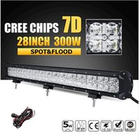 7D CREE Chips 300W 28 pollici LED Work Light Barra combinata Offroad Led Bar Lights Camion di guida SUV ATV 4x4 4WD 12v 24v