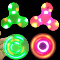 Wholesale Mini Kids Mobile Phone - LED Fidget Spinner Bluetooth Speaker EDC Hand Spinner Fidget Toy For Autism And Kids Adult Funny