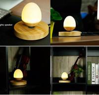 Wholesale Levitation Trick - Levitation trick Levitating Table Lamps Speaker Levitate Bluetooth Egg Shape Bedside Lamp Portable Bluetooth Speaker Bedlight