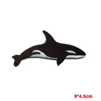 Wholesale Orca Whale - Killer whale orca fish blackfish aquatic mammal applique iron-on patch sea