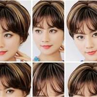 Wholesale Set Mechanism - Fashion brand human hair short wig hand hook and Full mechanism 10 inch wig Chinese wig set