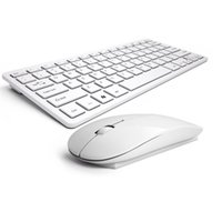 Ultra-delgado Mute Notebook External 2.4G Mini teclado inalámbrico Mouse Set Office Inicio TV teclado o <b>Mouse Key</b> para Apple IOS Android Windows