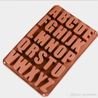 Wholesale candy cake letters - Alphabet Letter Soap Ice Cube Chocolate Candy Soap Silicone Mold Cake Decoration Pan