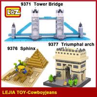 Wholesale Famous Bridges - LOZ Diamond Blocks World Famous Architecture Tower Bridge Sphinx Triumphal arch 9371 9376 9377 Model Building Blocks Education Toy Gift