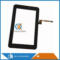 Wholesale Huawei S7 Screen Replacement - Black Color For Huawei S7-722U Touch Screen Panel Digitizer Glass Lens Repair Replacement Parts 20PC Lot Free Shipping