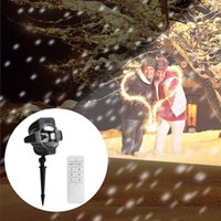 Wholesale timing lamp - Newest Waterproof LED Projector Light Moving Snowflake Spotlight Lamp Timing Speed Remote Control Indoor Outdoor Lawn Landscape Projection