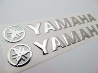 Wholesale Yamaha Emblem - 20CM Silver Sticker Fuel Gas Tank Emblem Decal Fairing Body Fuel Tank Badge Emblem Logo Scooter Sport Racing Bike Touring for Yamaha