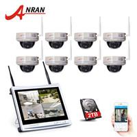 Wholesale Surveillance 8ch 2tb - ANRAN 8CH 12 Inch LCD NVR Security Camera System 2TB HDD 720P HD IR Night Vision Dome Security IP Camera WIFI Surveillance System